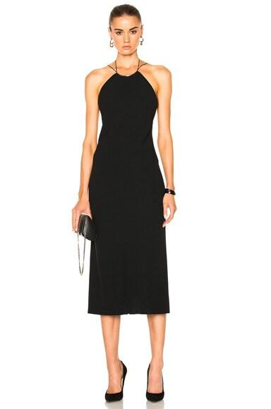 Kianca Open Back Silver Jewelry Ankle Length Dress
