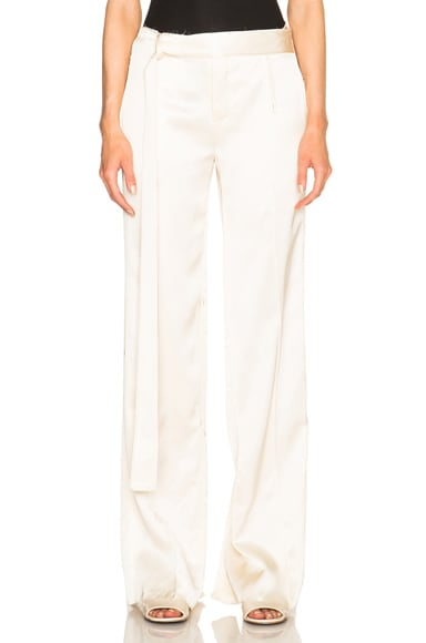 Calvin Klein Collection Gallart Trousers in Eggshell
