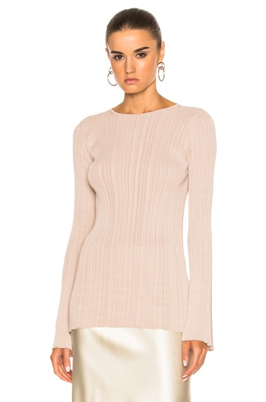 Elodie Variegated Rib Long Sleeve Tee
