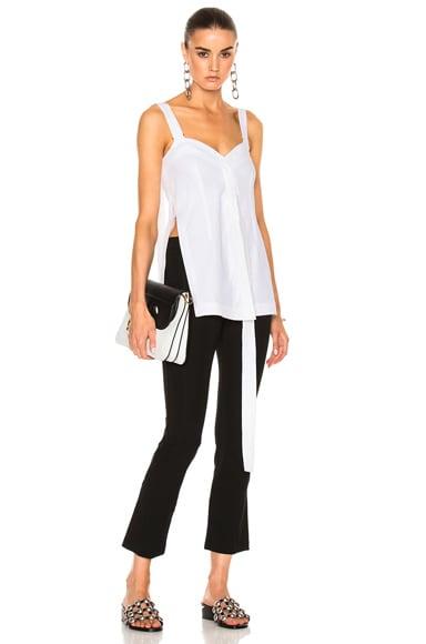 Calvin Klein Collection Laro Dry Cotton Tailoring Top in White