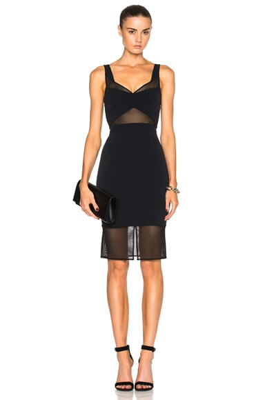 Carisa Rene by Nightcap Tulle Cut Out Dress in Black