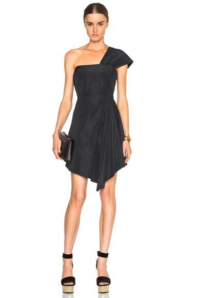 Carven One Shoulder Dress in Black