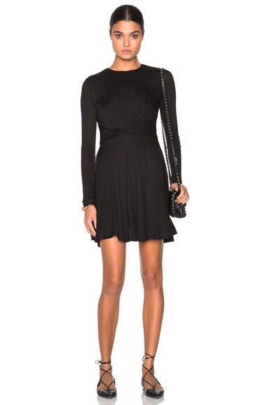 Carven Wrap Dress in Black