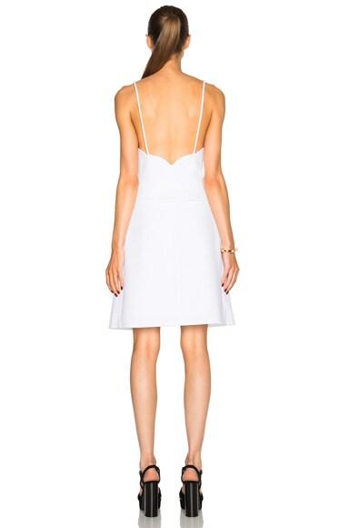 Scalloped Peplum Dress