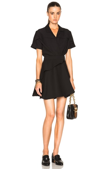 Carven Crepe Dress in Black
