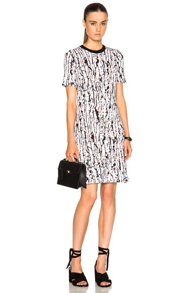 Carven Printed Jersey Dress in Black & White