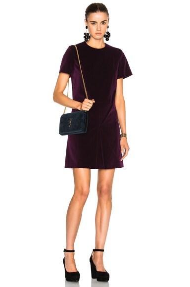 Carven Short Sleeve Mini Dress in Violet