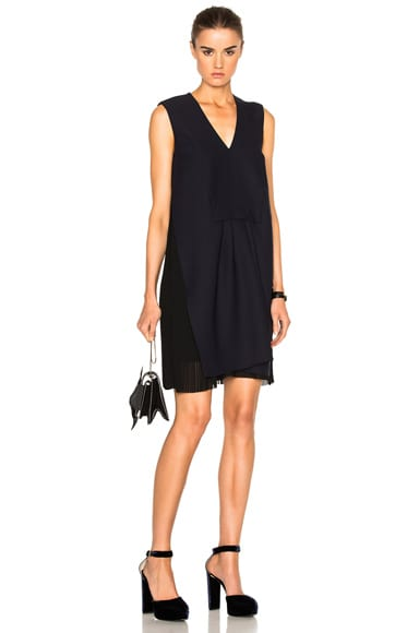 Carven Sleeveless V-Neck Dress in Marine