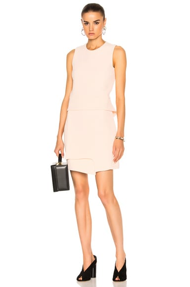 Carven Sleeveless Mini Dress in Nude