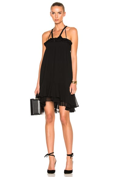 Carven Sleeveless Mini Dress in Noir