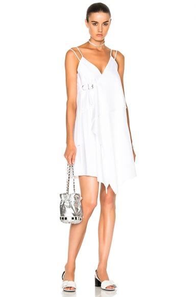 Carven Tank Wrap Dress in Blanc Optique