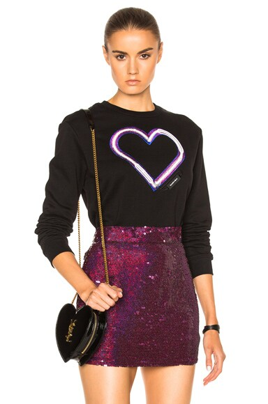 Carven Heart Sweatshirt in Noir