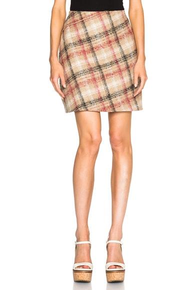 Carven Zipper Mini Skirt in Multi
