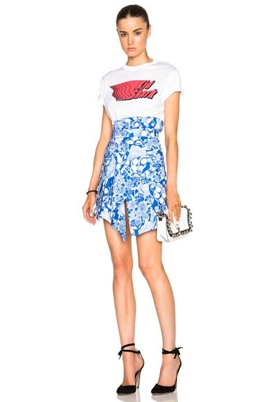 Underwater Printed Skirt