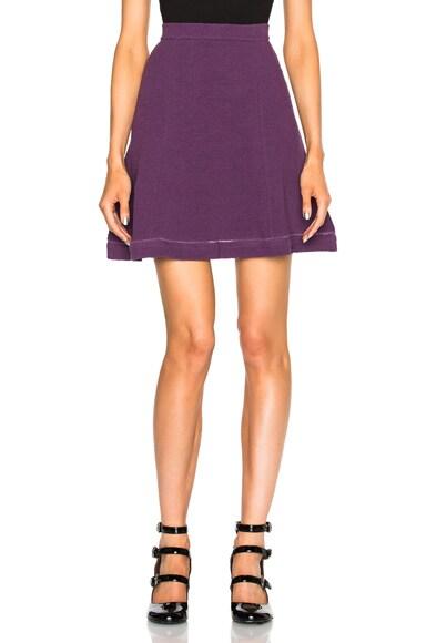 Carven Flared Skirt in Violet