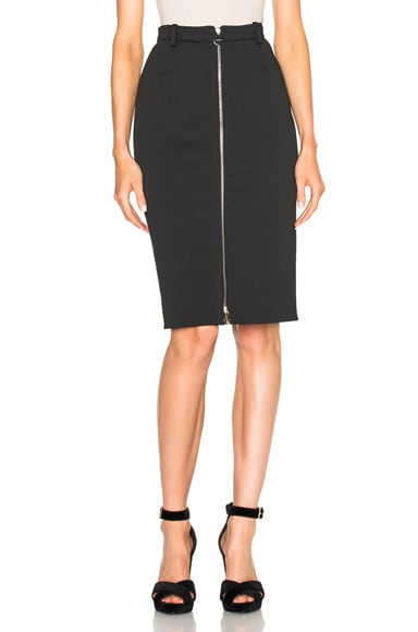 Carven Midi Skirt in Noir
