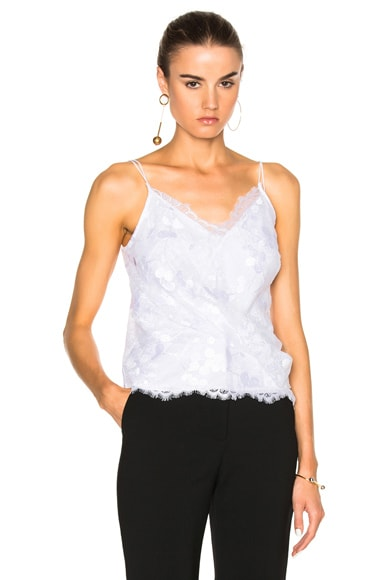 Carven Draped Tank Top in White