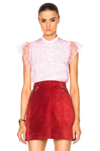 Carven Short Sleeve Top in Rose