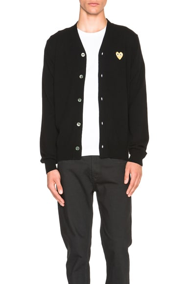 Cardigan with Gold Emblem