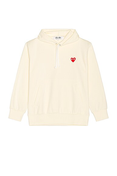 Zip Poly Hoodie with Red Emblem