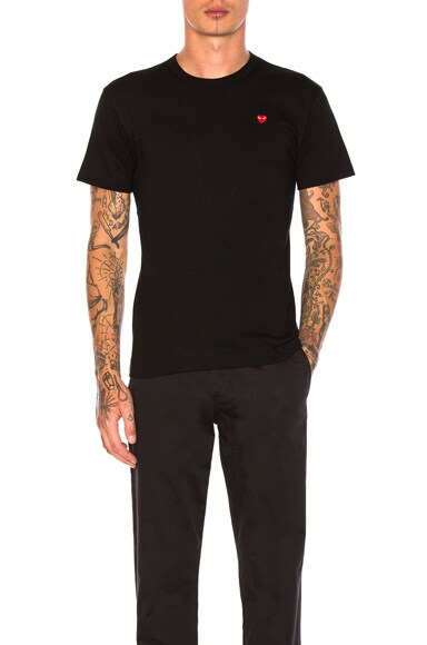 Small Red Emblem Cotton Tee