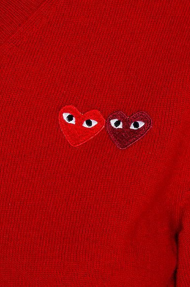 Double Emblem V Neck Sweater