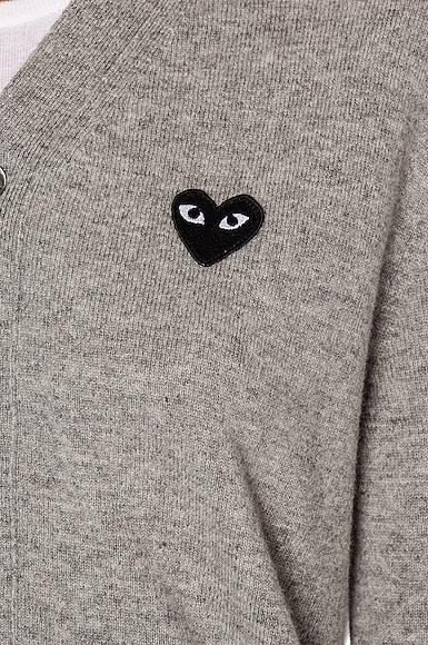 Wool Black Heart Emblem Cardigan