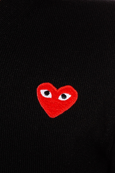 Wool Jersey Intarsia Red Emblem Sweater