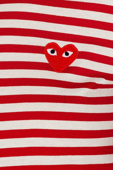 Striped Cotton Red Emblem Tee