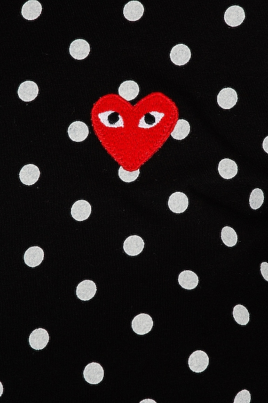Cotton Red Emblem Dot Tee