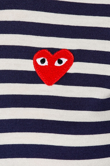 Stripe Red Heart Tee