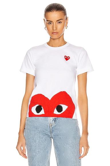 Red Emblem Heart Tee