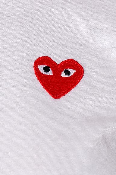 Cotton Red Emblem Tee