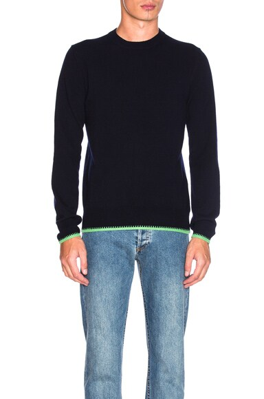 Comme Des Garcons SHIRT Pullover Sweater in Navy & Green