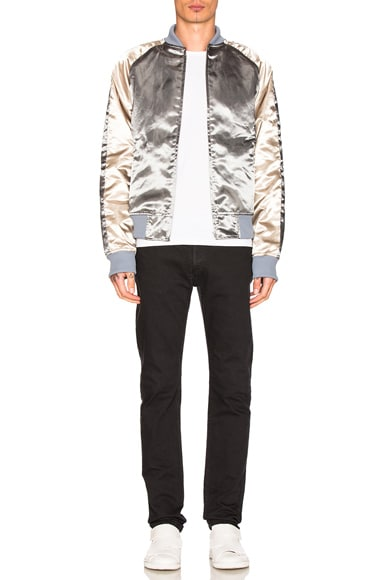 Polyester Cloth Quilted Bomber Jacket