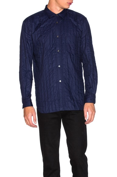 Comme Des Garcons SHIRT Cotton Poplin Shirt in Dark Navy