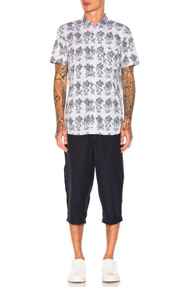 Yarn Dyed Cotton Stripe Printed Shirt