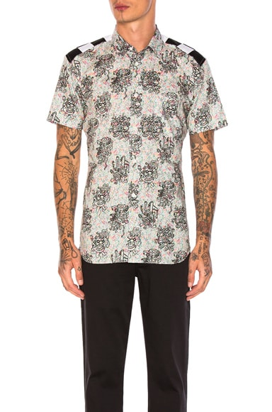 Cotton Lawn Flower Print Shirt