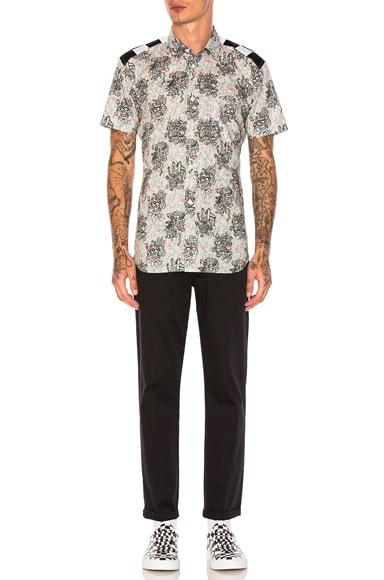 Cotton Lawn Flower Print Shirt
