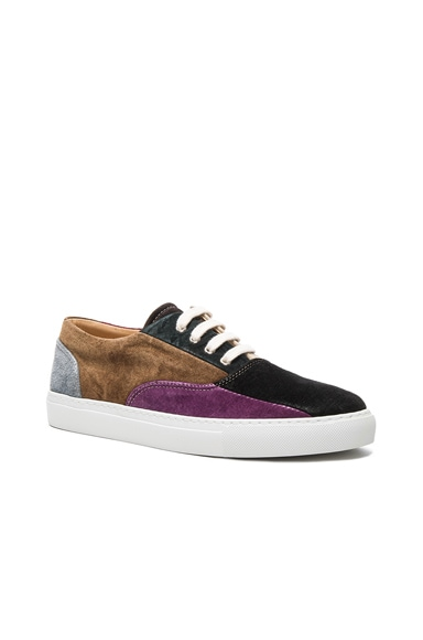 Comme Des Garcons SHIRT Suede Patchwork Sneakers in Mix 1