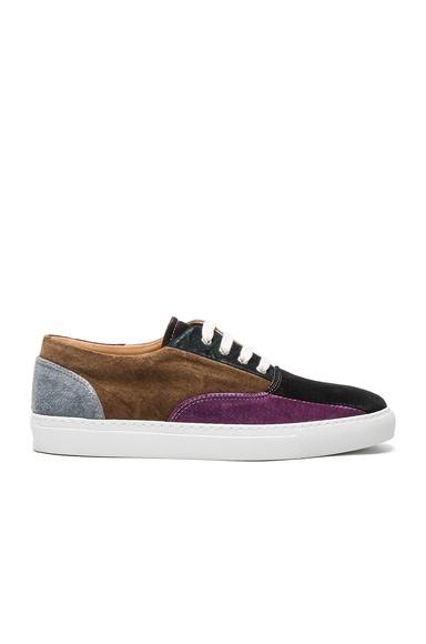 Suede Patchwork Sneakers
