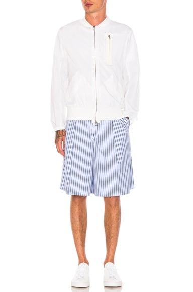 Cotton Broad Stripe Shorts
