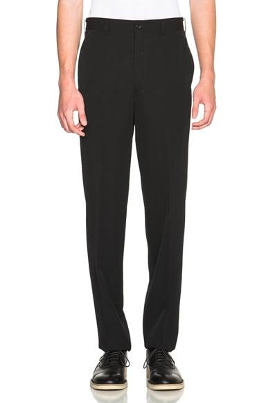 Comme Des Garcons Homme Plus Wool Gabardine Trousers in Black