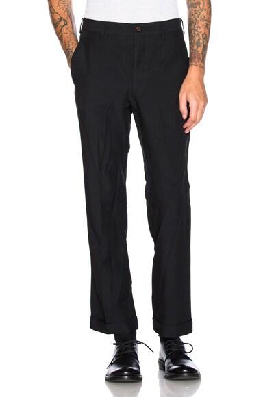 Comme Des Garcons Homme Plus Twill Pants in Black