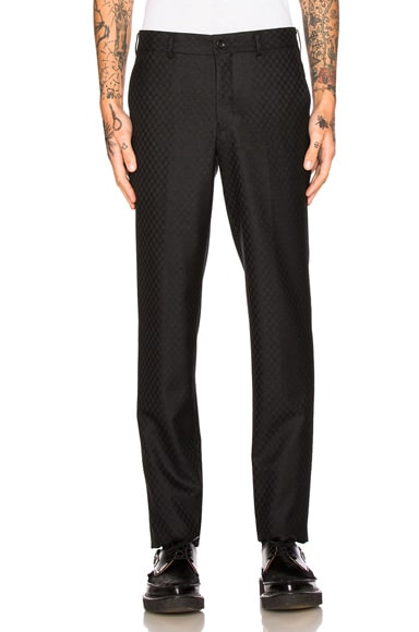 Comme Des Garcons Homme Plus Wool & Silk Trousers in Black