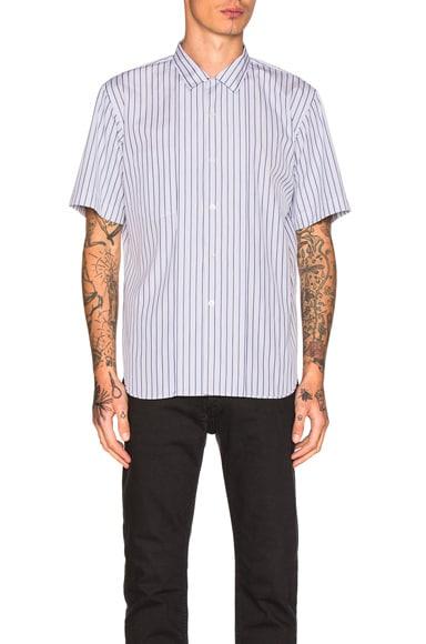 Comme Des Garcons Homme Plus Cotton Broad Stripe Shirt in White