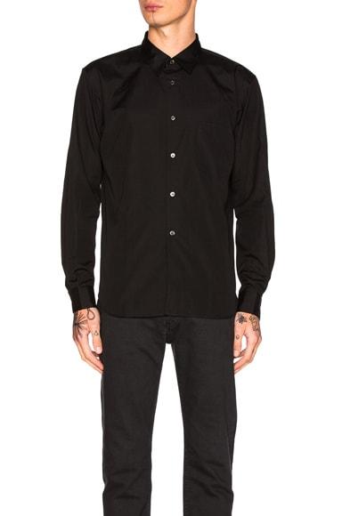 Comme Des Garcons Homme Plus Cotton Broad Shirt in Black