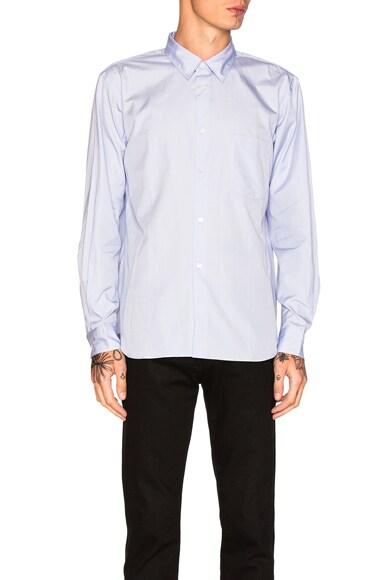 Comme Des Garcons Homme Plus Cotton Broad Shirt in Blue 2