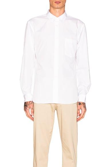 Comme Des Garcons Homme Plus Cotton Broad Shirt in White