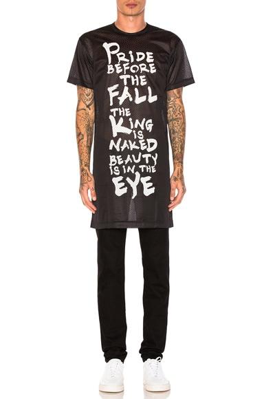 Comme Des Garcons Homme Plus Ester Mesh Print T-Shirt in Black & White